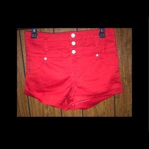 High rise shorts!